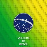 Bright background with blue disc of flag Brazil Stock Photo