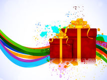 Bright background with box Royalty Free Stock Photos