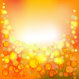 Bright background with bubbles, spackles. And copy space Stock Image