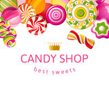 Bright background with candies Royalty Free Stock Images