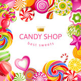 Bright background with candies Stock Images