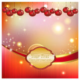 Bright background with Christmas balls Royalty Free Stock Photo