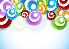 Bright background with circles Stock Photography