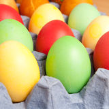 Bright background of colorful eggs Stock Photography