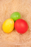 Bright background of colorful eggs Royalty Free Stock Image