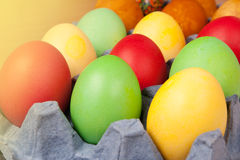 Bright background of colorful eggs Stock Photos