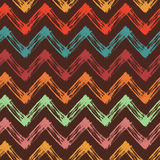 Bright background with colorful zigzag lines Stock Images