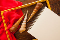 Bright background for craftsmanship. Bright colorful background with red silky drapery Stock Photos