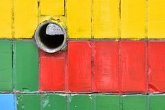 Dilapidated multi-colored tiles Stock Image