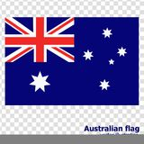 Bright background with flag of Australia. Happy Australia day background. Illustration with transparent background. Bright illustration with flag and stars Royalty Free Stock Photography