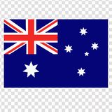 Bright background with flag of Australia. Transparent background. Bright background with flag of Australia. Happy Australia day background. Illustration for Royalty Free Stock Image