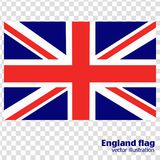 Bright background with flag of England. Stock Image