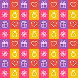 Bright background with flat style elements. Seamless bright background with flat outline elements Royalty Free Stock Image