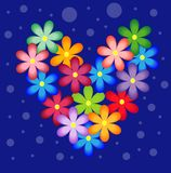 Bright background with flowers for a design Stock Image