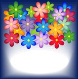 Bright background with flowers for a design Stock Photos