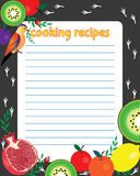 Bright sheet of paper for a recipe vector illustration