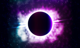 Bright background of the galaxy vector illustration