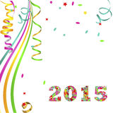 Bright background greetings new year 2015. Vector background Vector Illustration