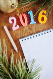 Bright background about Happy New Year 2016 Royalty Free Stock Photo