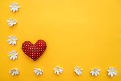 Bright background with heart Royalty Free Stock Photo