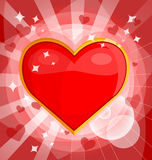 Bright background with heart Stock Photography