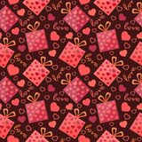 Bright background with hearts. Bright background with beautiful hearts Stock Photography