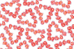 Bright background with hearts made of roses Stock Images