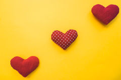 Bright background with hearts Stock Photos