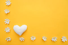 Bright background with hearts Royalty Free Stock Images