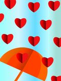 Bright background with hearts for Valentine. Valentine`s day, family day, holiday Stock Illustration