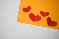 Bright background with hearts Royalty Free Stock Photo