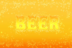 Bright background labeled beer Royalty Free Stock Image