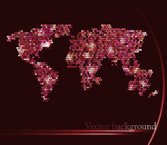 Bright background with map of the world Stock Image