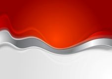Bright background with metal wave. Vector design Stock Images