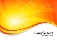 Bright background in orange color Stock Image