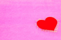 Bright background of paper and red heart Royalty Free Stock Photos