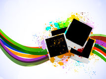 Bright background with photo frames Royalty Free Stock Photo