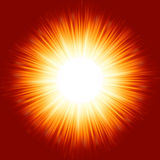 Bright background with rays in orange color. Royalty Free Stock Photography