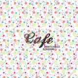 Bright background for restaurant and cafe Royalty Free Stock Images