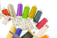 Bright  background from sewing belonging Stock Photo