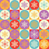 Bright background with snowflakes Royalty Free Stock Photos