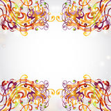 Bright background space banner fantasy. There is a fictional plant background Royalty Free Stock Photography