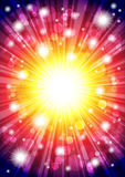 Bright background with the stars. Bright vibrant background with stars and the glow Royalty Free Stock Photo