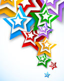 Bright background with stars Royalty Free Stock Photos