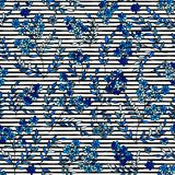 Bright background with strips and flowers. Seamless pattern can be used for wallpapers, fabric, pattern fills, web page stock illustration