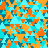 Bright background with triangular pattern Stock Image