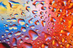 Bright background with water drops Stock Image