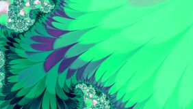 Bright background with wavy teal turquoise and going green hair shapes, tropical abstract picture pattern vector illustration