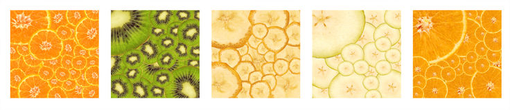 Bright backgrounds. From pieces of ripe fruit Royalty Free Stock Photo