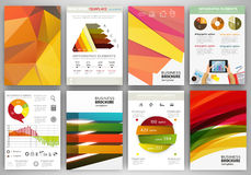 Bright backgrounds and abstract concept infographics and icons Stock Photo